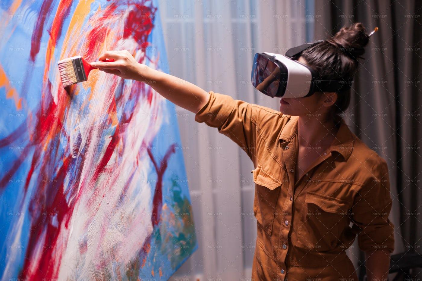 Painting With Virtual Reality: Stock Photos