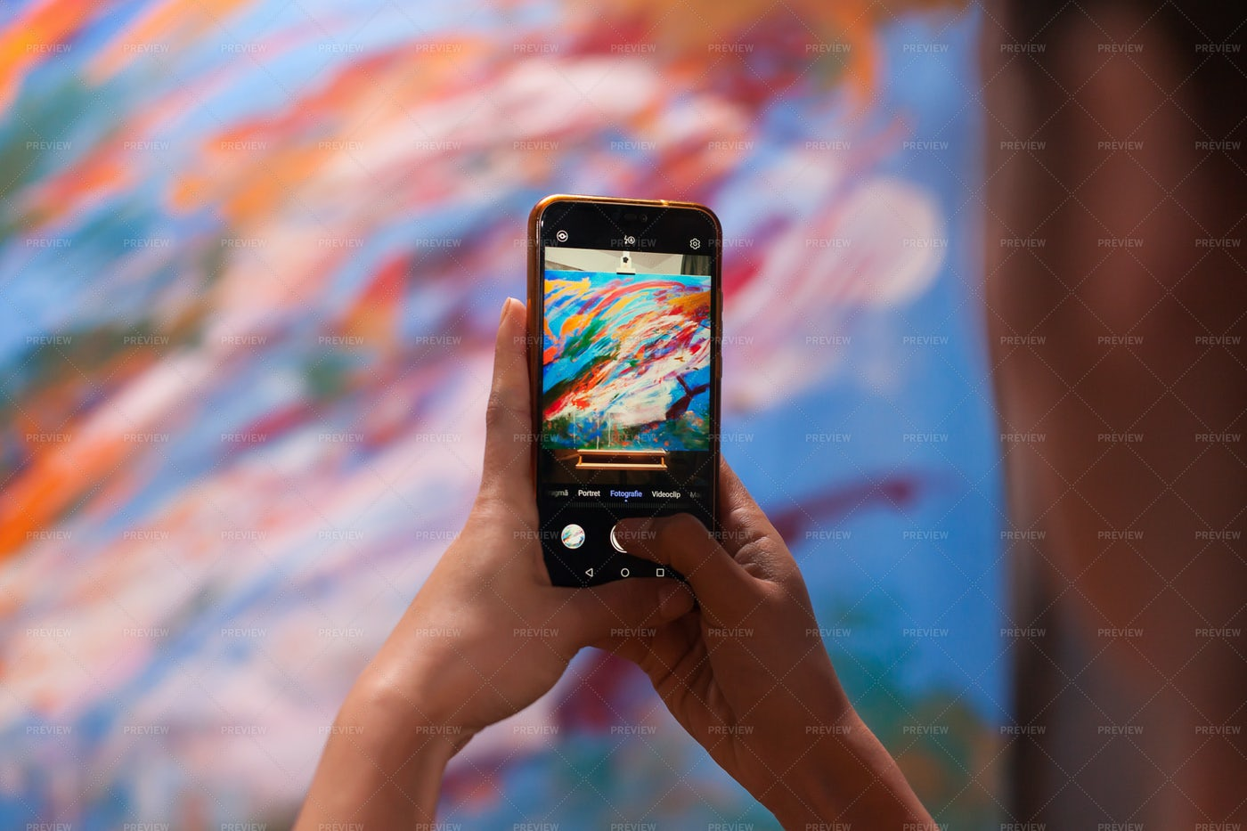 Taking Photo Of Paint: Stock Photos