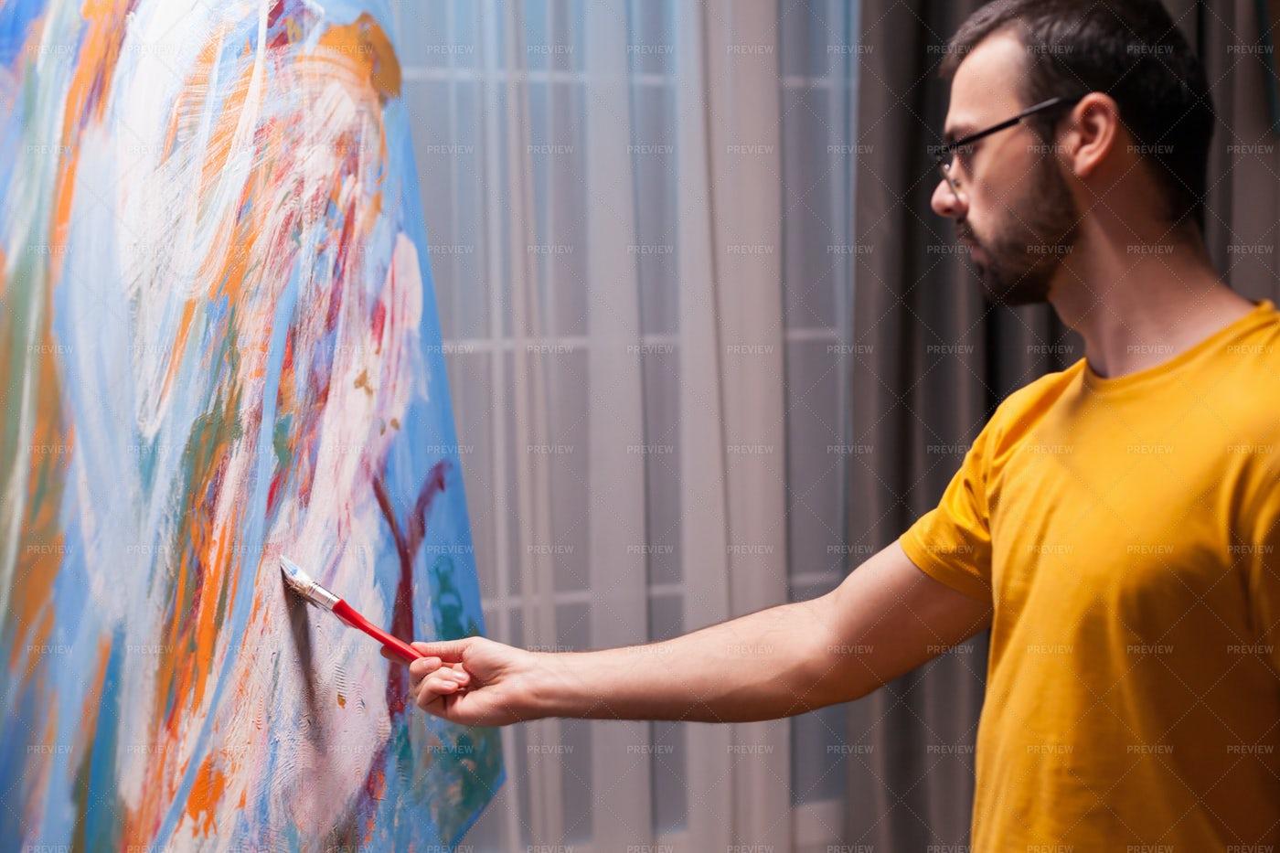 Fine Art Painter: Stock Photos