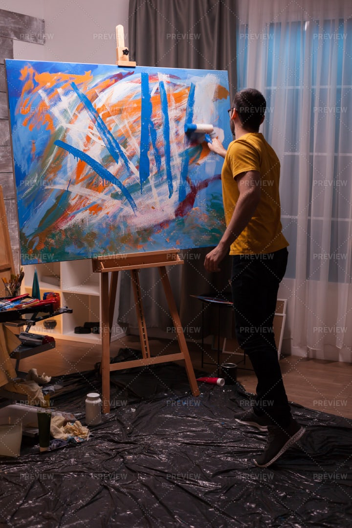 Painting At Home: Stock Photos