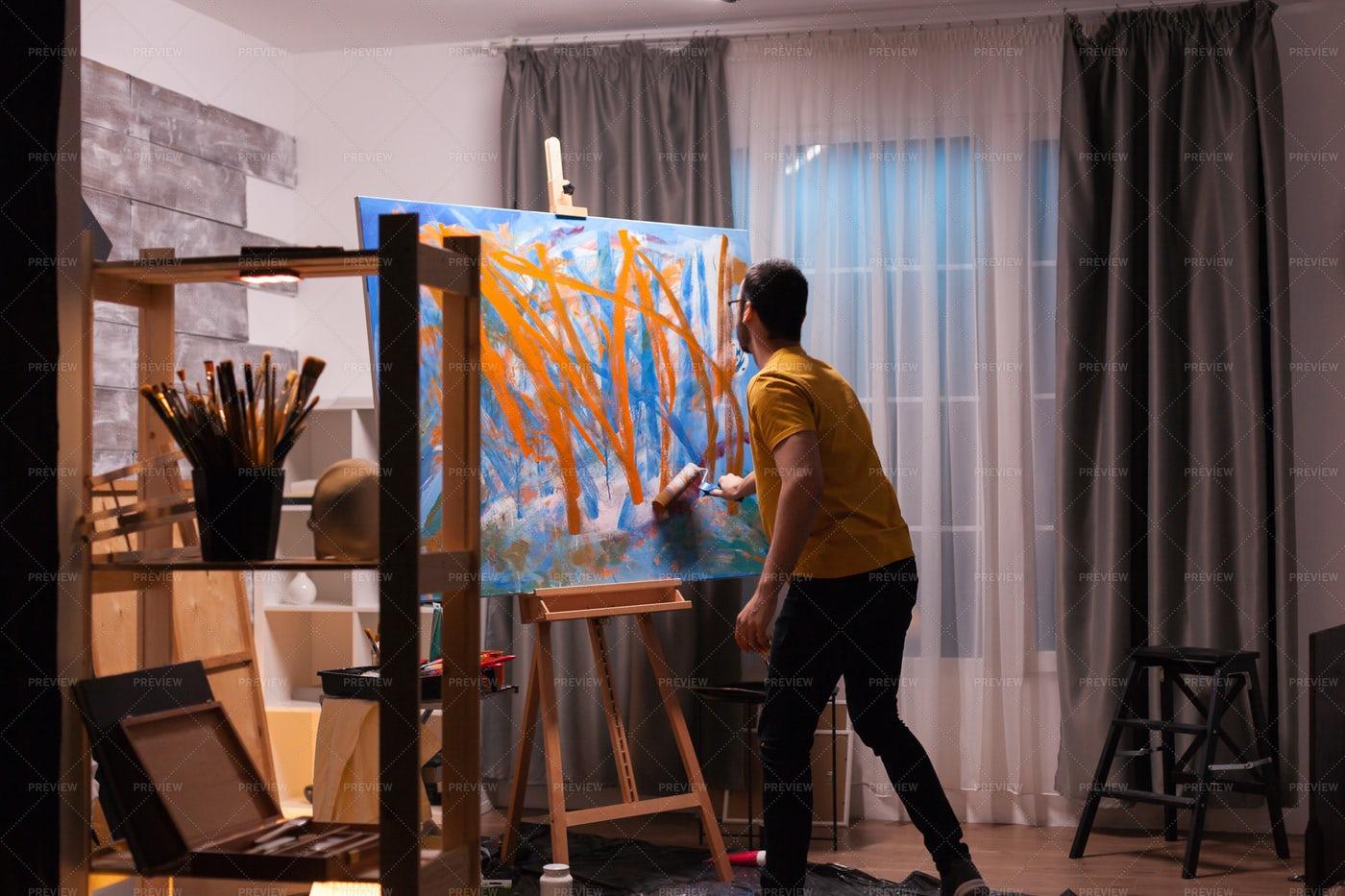A Painter At Work: Stock Photos