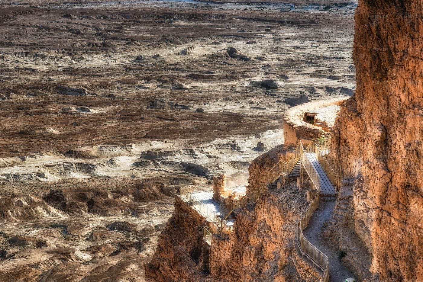 Ruins Of Masada: Stock Photos