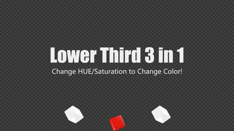 Lower Third 3-In-1 Changeable Colors: Stock Motion Graphics