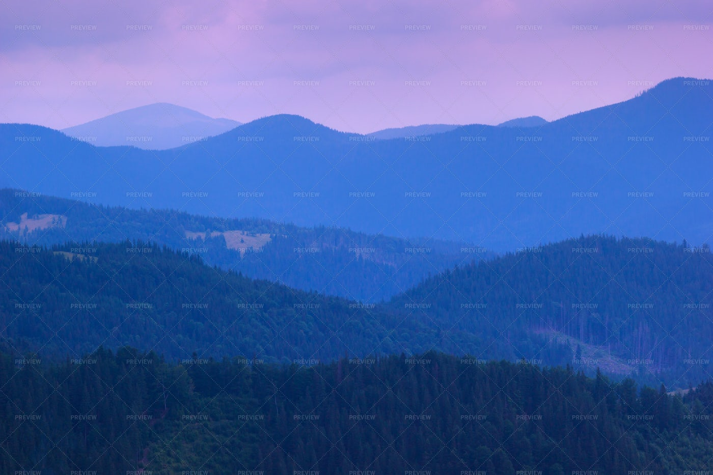 Violet Mountains: Stock Photos