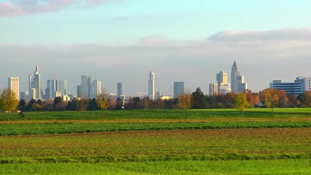 Biking Outside Frankfurt : Stock Video