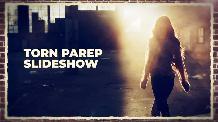 Torn Paper Slideshow: After Effects Templates