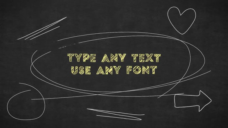 Chalkboard Writing: After Effects Templates