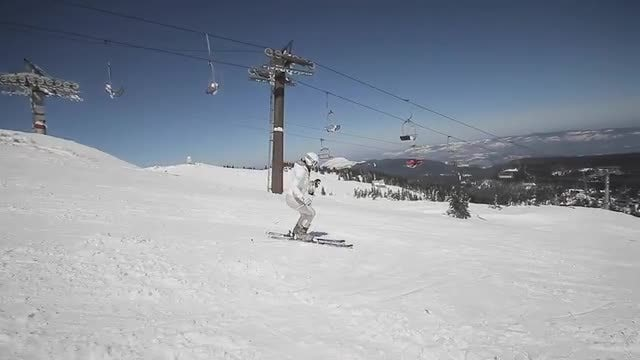 Female Skier: Stock Video