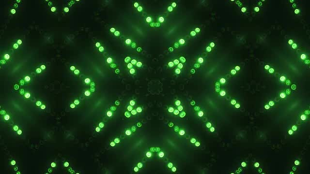 Green Circle LED VJ Background: Stock Motion Graphics