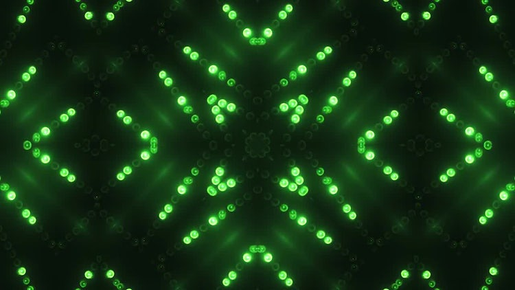 Green Circle LED VJ Background: Motion Graphics