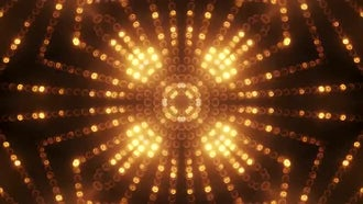 Gold Circle LED Animated VJ background: Motion Graphics