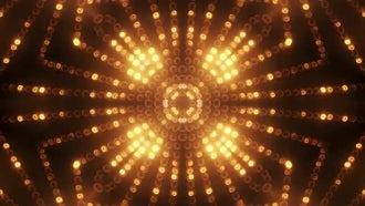 Gold Circle LED Animated VJ background: Motion Graphics