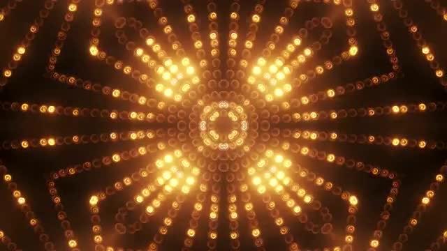 Gold Circle LED Animated VJ background: Stock Motion Graphics