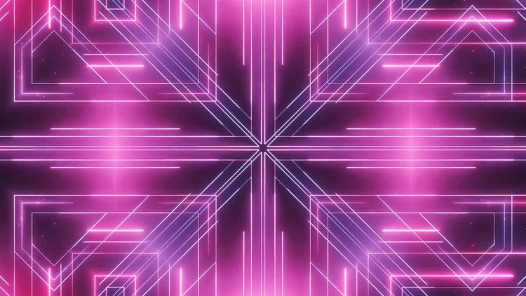 Neon Abstract Lines VJ Background: Stock Motion Graphics