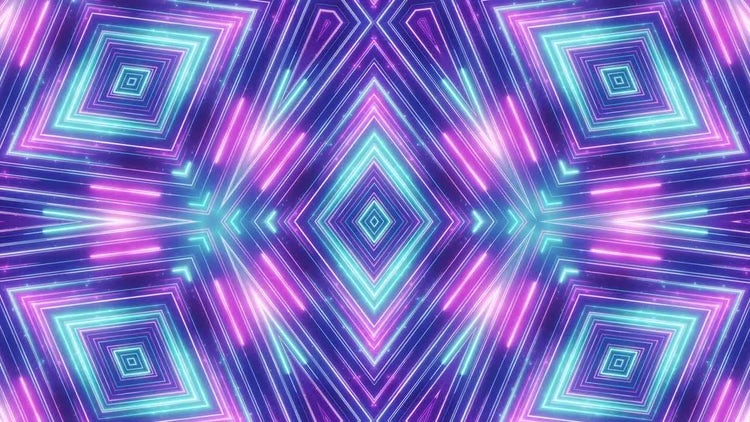 Neon Diamonds VJ background: Stock Motion Graphics