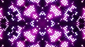 LED Flower Patterns VJ Background: Motion Graphics