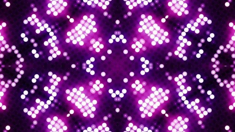 LED Flower Patterns VJ Background: Stock Motion Graphics