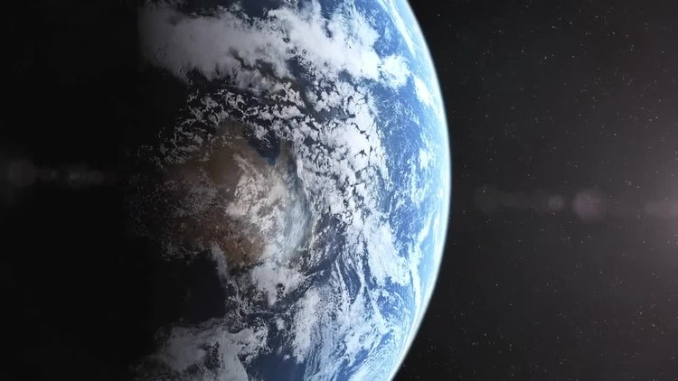 Realistic Planet Earth Reveal: Stock Motion Graphics