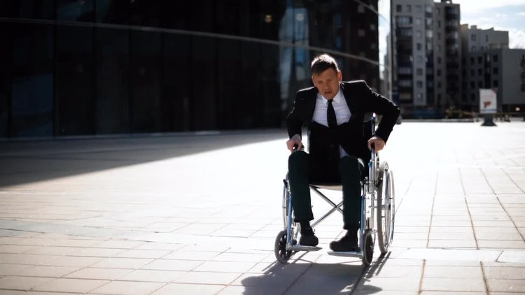 PWD Tries To Stand: Stock Video