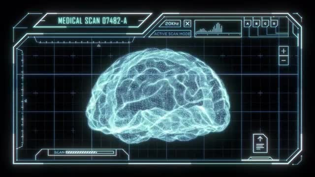 Holographic Brain Scan HUD: Stock Motion Graphics