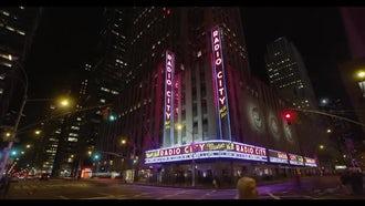 Radio City Music Hall Night Time: Stock Video