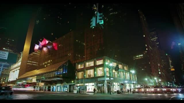New York City Night Traffic: Stock Video