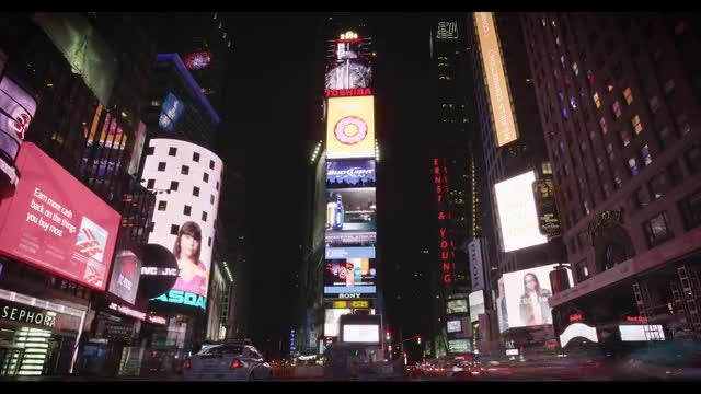 Times Square Lights And Traffic: Stock Video