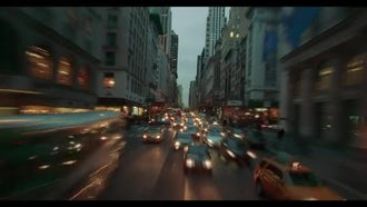 Cars Following In New York City Time-Lapse: Stock Video