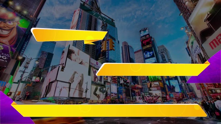 6 Lower Thirds Design Pack 01: Stock Motion Graphics