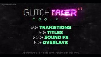 GlitchMaker Toolkit: 350+ Elements: After Effects Templates