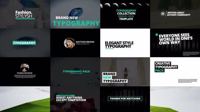 Typography Pack: Premiere Pro Templates