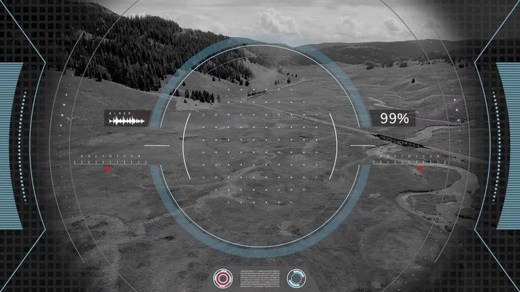 Futuristic Interface Recording Screen: Motion Graphics