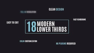 18 Lower Thirds: After Effects Templates