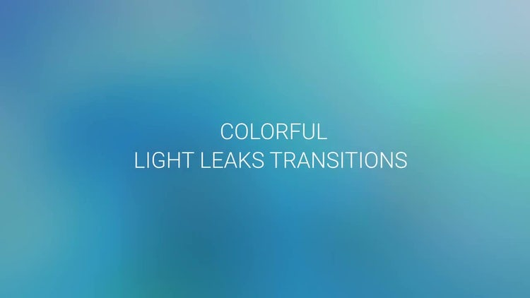 Colorful Light Leaks Transitions: Motion Graphics