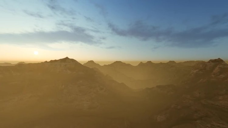 Fly Over Mountain With Fog: Motion Graphics