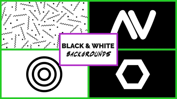 Black And White Backgrounds: Stock Motion Graphics