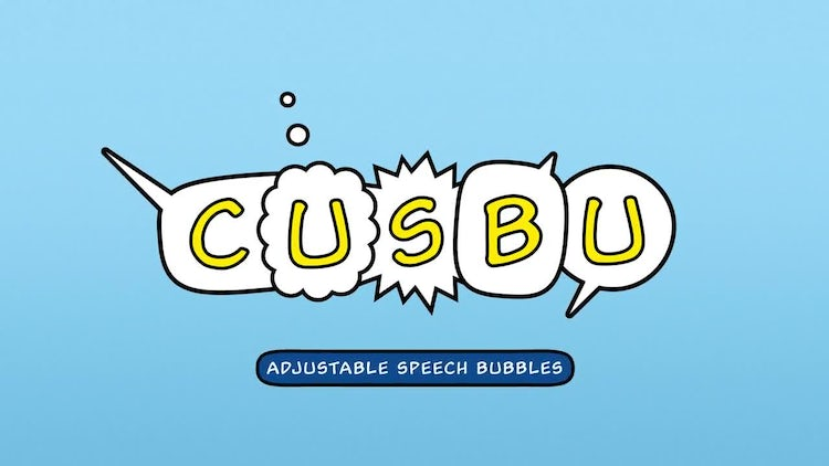 Adjustable Speech Bubbles: After Effects Templates