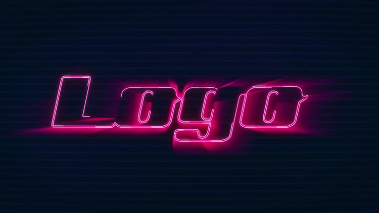 Dubstep Neon Logo: After Effects Templates