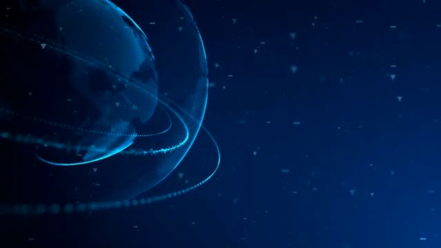 Digital Planet With Rings 03: Stock Motion Graphics