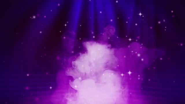 Smokey Stage With Particles: Stock Motion Graphics