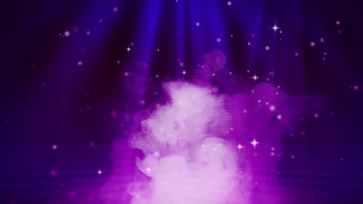 Smokey Stage With Particles: Motion Graphics