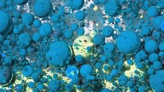 Blue White Oil Bubbles Motion : Stock Video