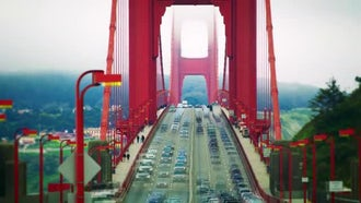 Golden Gate Traffic Time-Lapse: Stock Video