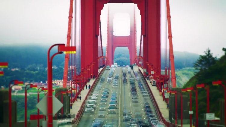 Golden Gate Traffic Time-Lapse: Stock Video