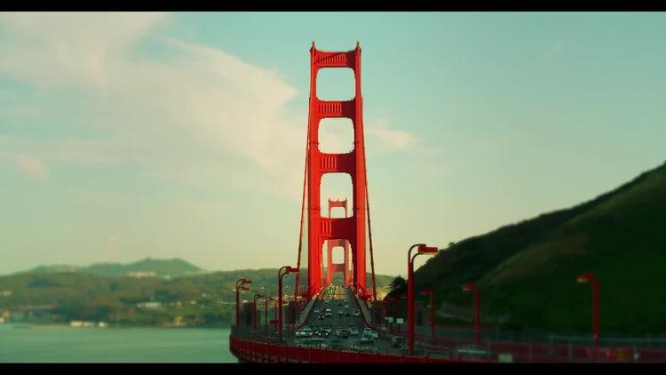 Golden Gate Traffic Time Lapse: Stock Video