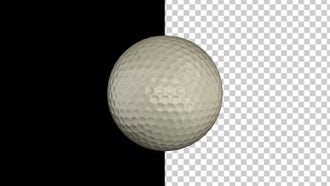 Golf Ball With Alpha Channel: Motion Graphics