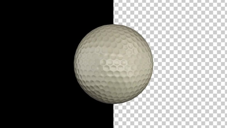 Golf Ball With Alpha Channel: Stock Motion Graphics