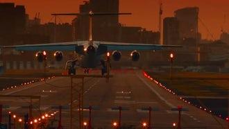 London City Airport: Stock Video