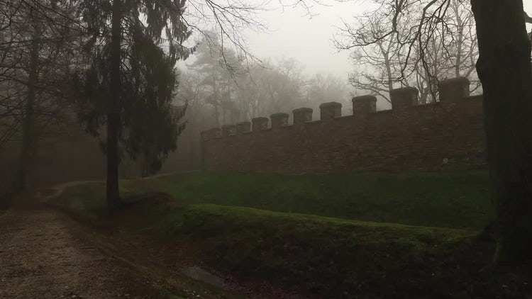 Outside Castle Walls : Stock Video