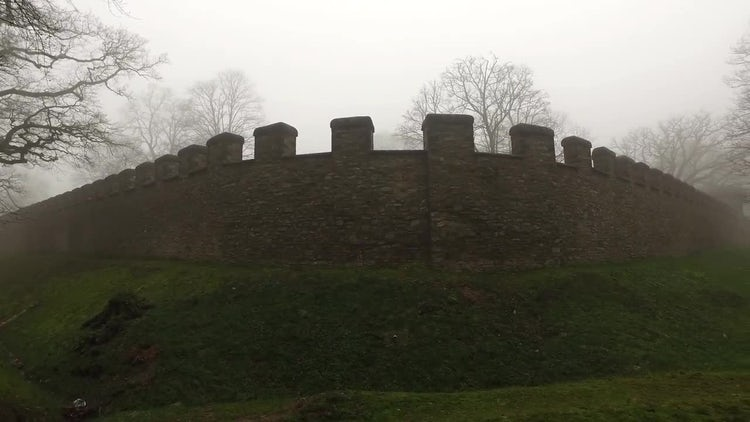 Old Castle Walls In Germany: Stock Video